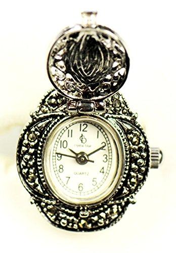 Wunderschön im Sisi Stil, Ringuhr, Fingeruhr, Uhr mit Gemme, (Modeschmuck Österreich)