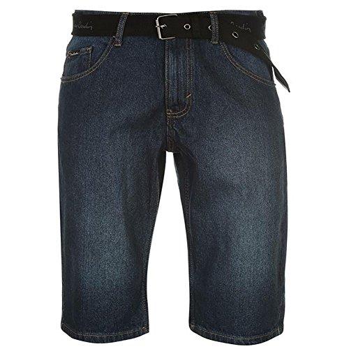 Denim Baumwolle Shorts (Pierre Cardin Herren 100% Baumwolle Denim Knielange Shorts mit Canvas gewebt (Large, Dark Wash))
