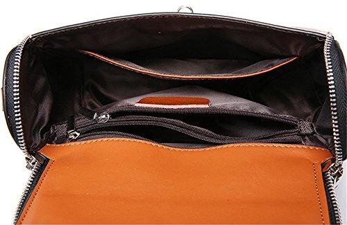 Xinmaoyuan Borse donna borsette in cuoio medico Pack cera olio tracolla in pelle Messenger portatile borsa da donna Brown