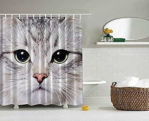 Rideau Animaux - CAT Rideau de douche par Ormis Décorations
