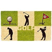 Fußmatte GOLF,hochwertiger Fußabstreifer mit Golfmotiv,Golfmatte aus Kokos