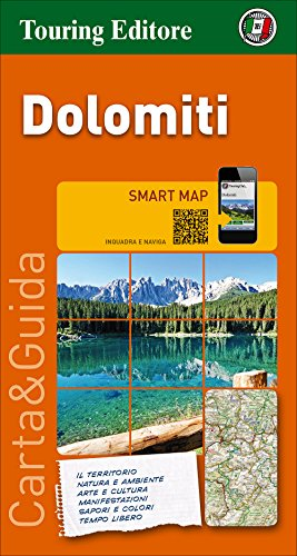 Dolomitas, mapa de carreteras impermeable. Escala 1:200.000. Touring Club Italiano. (Smart map) por VV.AA.