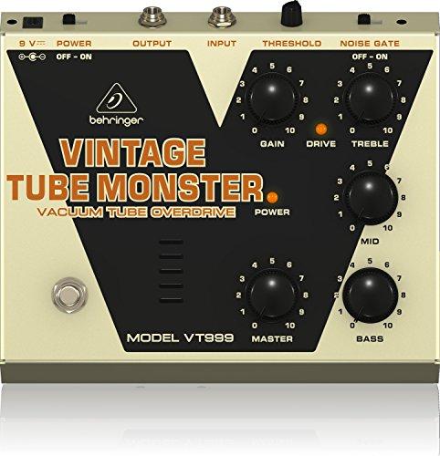 Behringer VINTAGE TUBE MONSTER VT999 VakuumröhrenOverdriveEffektpedal - Pedal Noise Gate Guitar