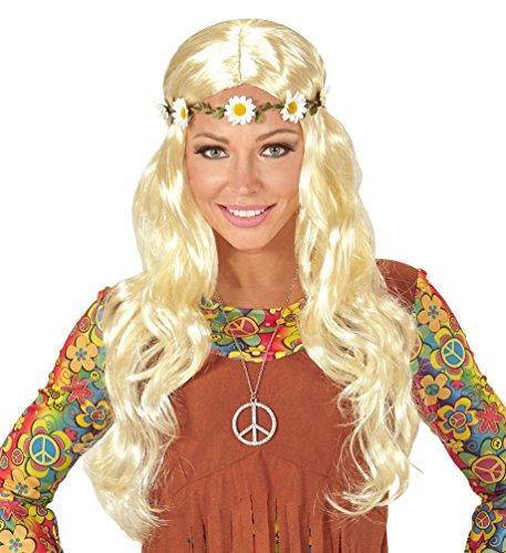 Karneval Klamotten Kostüm Perücke Dame blond mit