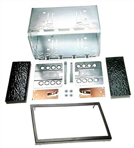 Carav 14-004, telaio di montaggio per autoradio, albero metallico universale 2-DIN, 180 x 113 mm