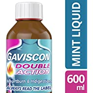 Gaviscon Heartburn and Indigestion Liquid, Double Action, Mint Flavour, 600 ml