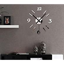 feitong espejo diy del reloj de pared d de superficies reloj pegatina home office decor
