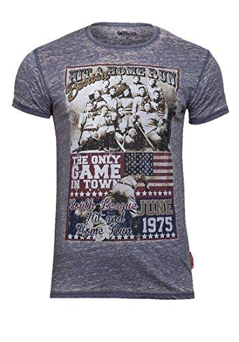 Brave Soul Herren T-Shirt Blau