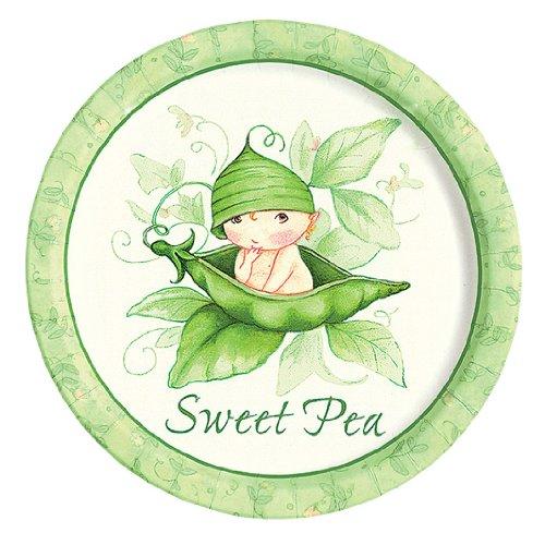 Unbekannt Speiseteller, Motiv: Sweet PEA, 8 Stück