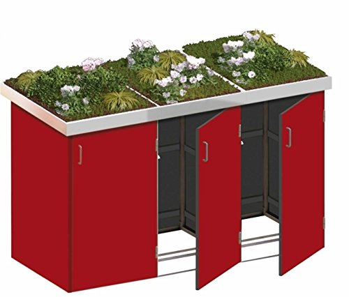 Mülltonnenbox 3 Hartholz
