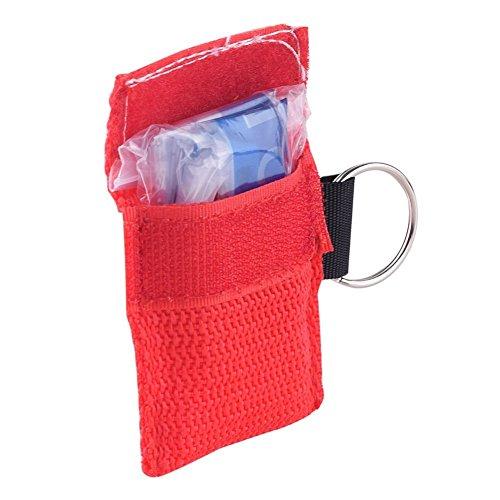 Minkoll CPR Gesichtsmaske, Gesichtsmaske CPR One-Way-Ventil für Erste-Hilfe-Training (rot) (Cpr-maske Ein Ventil)