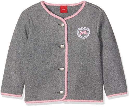 s.Oliver Baby-Mädchen Strickjacke 59.707.43.7976, Grau (Grey Melange 9730), 68