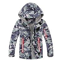YoungSoul Boys Camo Raincoat Fleece Lined Waterproof Jackets