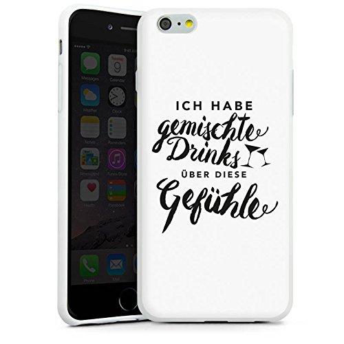 Apple iPhone X Silikon Hülle Case Schutzhülle Drinks Gefühle Sprüche Silikon Case weiß
