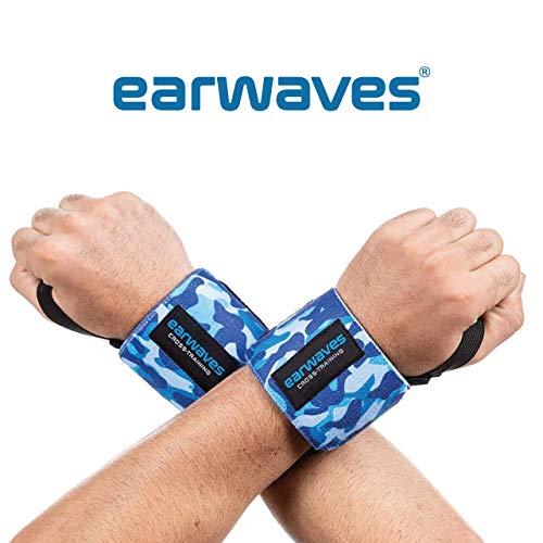 Earwaves  - Muñequeras Crossfit Ideales para Calistenia, Halterofilia, Weightlifting, Deadlifting, etc. Par de muñequeras Deportivas para Hombre y Mujer. 50cm