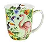 Fine Bone China Becher - Tropical - Flamingo