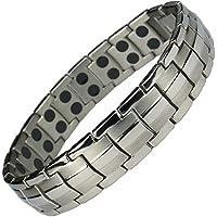 IonTopia Hermes Titan-Magnettherapie-Armband, Silberfarben, mit Gliederentfernungswerkzeug preisvergleich bei billige-tabletten.eu