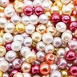 TOAOB 4mm Glasperlen runde sortierte mischfarbige Perlen für Schmuckherstellung Packung mit 1000 Stück