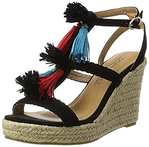 Buffalo Shoes Damen 315791 Imi Suede Bhwmd A350 Knöchelriemchen, Schwarz (Black 01), 40 EU