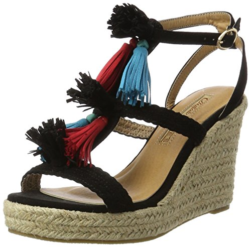 Buffalo David Bitton 315791 Imi Suede Bhwmd A350, Sandales Bout Ouvert Femme