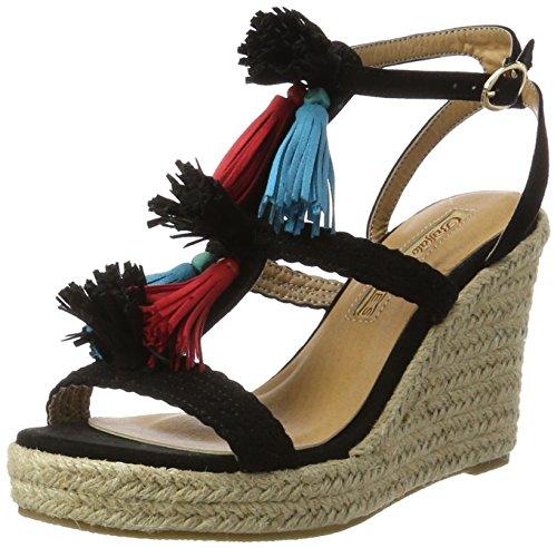 Buffalo Shoes Damen 315791 Imi Suede Bhwmd A350 Knöchelriemchen, Schwarz (Black 01), 39 EU