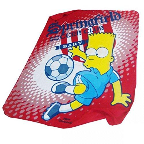 Simpsons Tagesdecke Bart Simpson Decke für Kinder Fussball