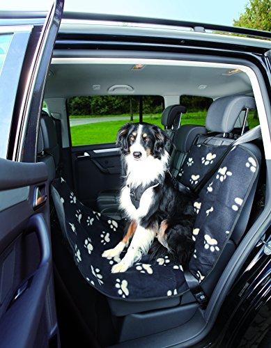 Trixie Cani Copertura Protettiva dell'automobile Pile/Nylon-Optic Nero/Beige Coperta per Cani