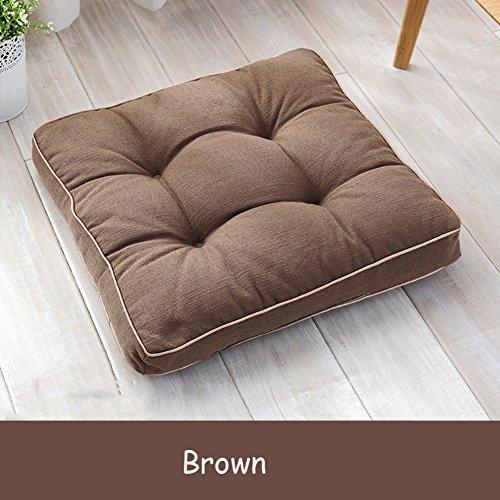 Baumwolle Traditionellen Stuhl (Fluidsysteme Boden Wohnzimmer Sitzkissen,Stuhl sitz pad Büro-pad Tatami-teppiche Moderne Verdicken sie Sitzkissen Computer,Polyester-baumwolle- 45x45cm(18x18inch))