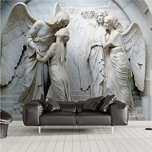 d Wandbilder Dekorationen Aufkleber Klassische Europäische Engels Wohnzimmer Schlafzimmer Dekoration Kunst Mädchen Schlafzimmer (W) 140X(H) 100Cm ()