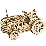 3D Holz Puzzle Mechanische Modell Selbstmontage Laser Schneiden Besten Geburtstagsgeschenk-Ingenieur Ehemann und Freund und Teenager-Junge und Erwachsene (Traktor)
