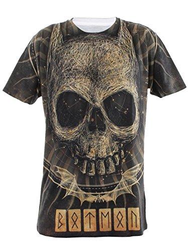 Batman Gothic Skull Allover Printed alevros T-Shirt multicolore Medium