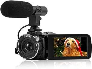 "Camcorder Kamera Full HD 1080P 30FPS Mini Camcorder mit Fernbedienung Wi-Fi IR Nachtsicht Digitalkamera 3"" LCD Touchscreen Videokamera"