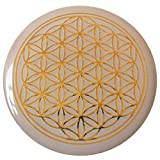 atalantes spirit Blume des Lebens Doming Aufkleber - Farbe Gold, 3cm, 5 Stück - 3D Reliefprägung, Sticker Lebensblume