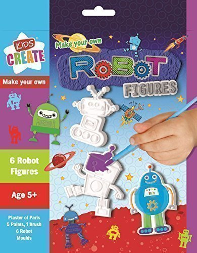 make-your-own-robot-figures-6-designs-plaster-of-paris