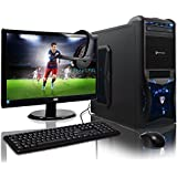 ADMI GAMING PC With Monitor, Headset, Keyboard & Mouse - AMD A6-6400k Mid Spec Blue LED, Home, Family, Multimedia Desktop Gaming Computer with Platinum Warranty: Fast Dual Core 4.1GHz CPU with Radeon HD 8470D Graphics, Gigabyte F2A78M-HD2 HDMI Motherboard with AMD Triple Monitor Support, 8GB 1600MHz RAM, 1TB Hard Drive Storage, 150mbps WiFi Included, Vantage Blue LED Case - with Windows 10 - Including Headset, Keyboard, Mouse & 21.5 Inch Monitor