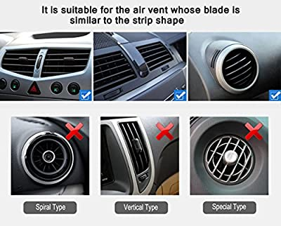 Quntis(TM) Premium Quality Portable Car Air Vent Mount Holder Cradle Compatible with 4inch mobile phones fits iphone 6 6+ 5 5s 5c 4 4s, Andriod Samsung Galaxy S5, S4, S3 Note3 and other Smartphones in Black