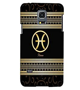 Fuson 3D Printed Sunsign Pisces Designer back case cover for Samsung Galaxy S5 Mini - D4315