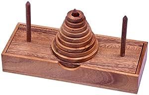 Pagoda – Turm von Hanoi – Denkspiel – Geduldspiel mit 9 Scheiben aus Holz