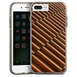 Apple iPhone 8 Plus Bumper Hülle Bumper Case Schutzhülle Dachziegel Ziegel Look Muster