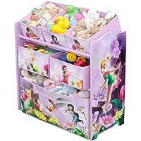 Preisvergleich für Delta Children's Products Disney Fairies Multi Toy Organizer für Spielzeug aus Holz mit Textilschubladen Aufbewahrungsbox mit Schubladen