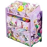 Disney Fairies Multi Toy Organizer für Spielzeug aus Holz mit Textilschubladen Aufbewahrungsbox mit Schubladen NEU