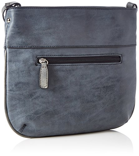 GERRY WEBER Damen Lime Light Iii Shoulderbag Mvz Schultertasche, 1x25x28 cm Blau (Dark Blue)