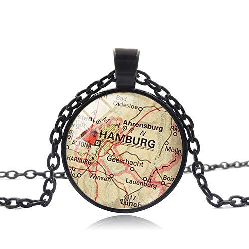 Mia Manchini Hamburg Halskette für Damen und Herren (Schwarz)