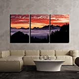 3 Piece Canvas Wall Art - Gold Color Abstract Artwork - Modern Home Decor Stretched and Framed Ready to Hang -18 inch x 12 inch x 3(Total 18 inch x 36 inch) Panels By FRIENDS OFFICE AUTOMATION.