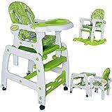 Seelux 3 in 1 Multi Kinderhochstuhl mit Schaukelfunktion, verstellbar (Grün)