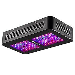 Niello® 300W Optical Lense Series LED Pflanzenlampe Dual LED Grow Light Vollspektrum Wachsen mit 2 Schalter für Zimmerpflanzen Gemüse und Blumen