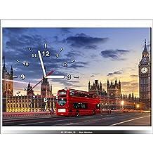 Art-Gallery XXL–60x 40cm–Londres–Westminster–Reloj de pared cuadro–Deco moderno–New Design