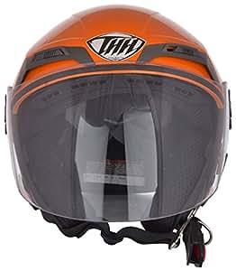 THH Courage Open Face Helmet (Orange, M)