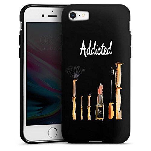 Apple iPhone 5 Silikon Hülle Case Schutzhülle Beauty Kosmetik Make Up Silikon Case schwarz