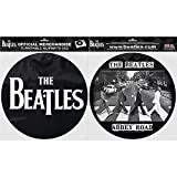 The Beatles Official Abbey Road And Drop T Logo Black Slipmats Turntable DJ Retro